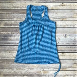 Athleta Blue Striped Tinker Tank
